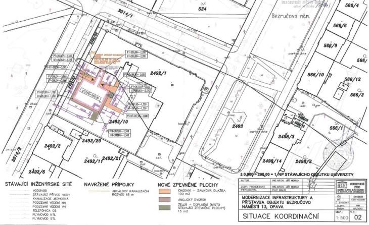 pristavba objektu slezske univerzity bezrucovo namesti