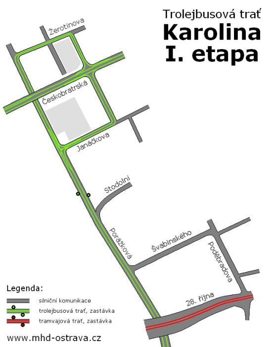 karolina mhd trolejbus 1. etapa