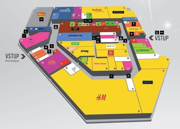 mapa-obchodni-centrum-fryda-frydek-mistek