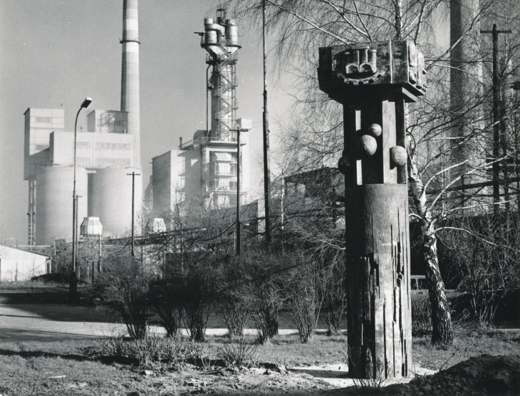 Jiří Myszak: Výroba slínku, 1975–1976 (foto Petr Sikula)