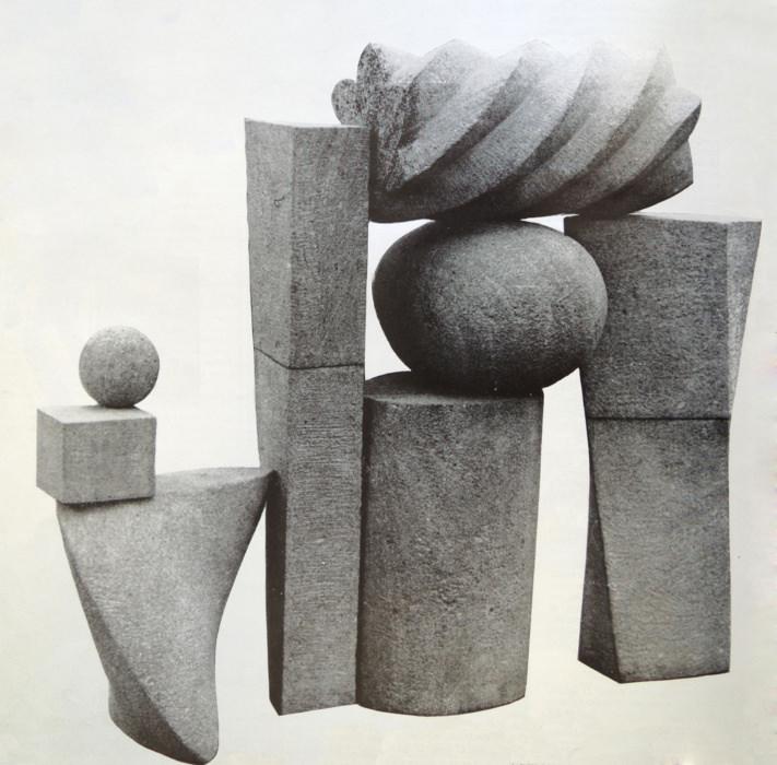 Zlatá brána Miloslava Hejného na fotografii z výstavy U hybernů pro časopis Výtvarné umění (1969)
